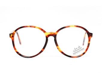 SALE - 50% OFF - tortoise vintage eyeglasses - brown oversized round glasses - large frames - 1980s panto style eyeglasses albin