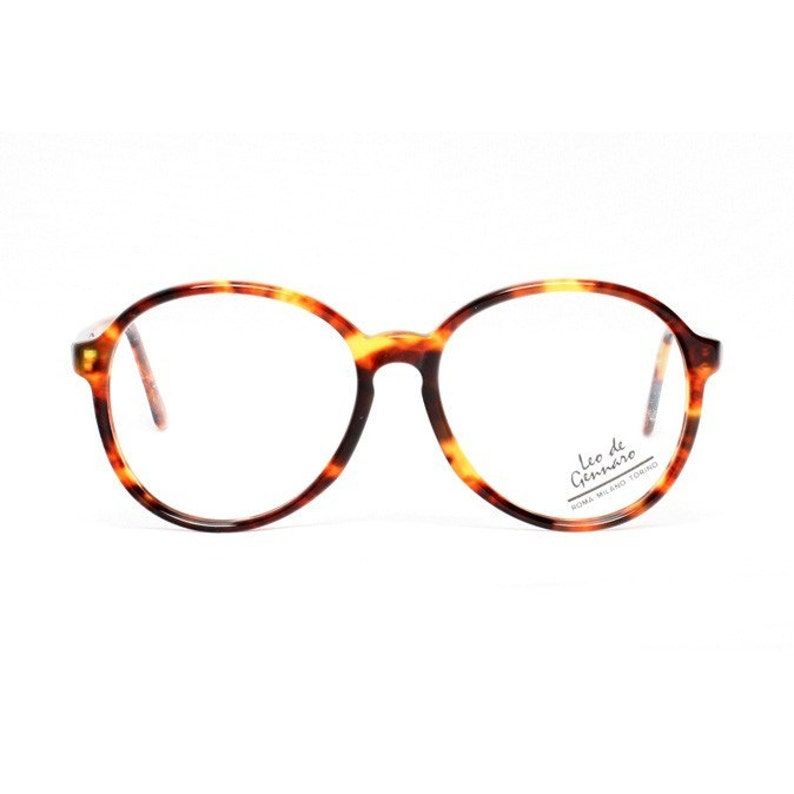 7215b403f8 Tortoise vintage eyeglasses brown oversized round glasses