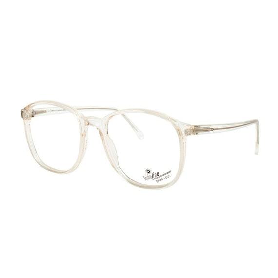 oversized clear frame glasses crystal transparent vintage | Etsy
