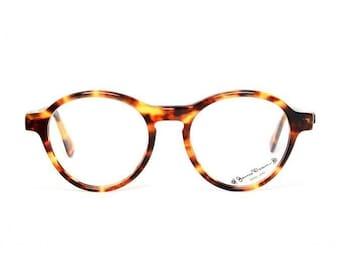 brown tortoise vintage eyeglasses - James Dean round glasses - preppy panto model for him and her - albin