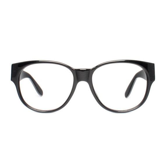 large vintage eyeglasses oversized black glasses frames | Etsy