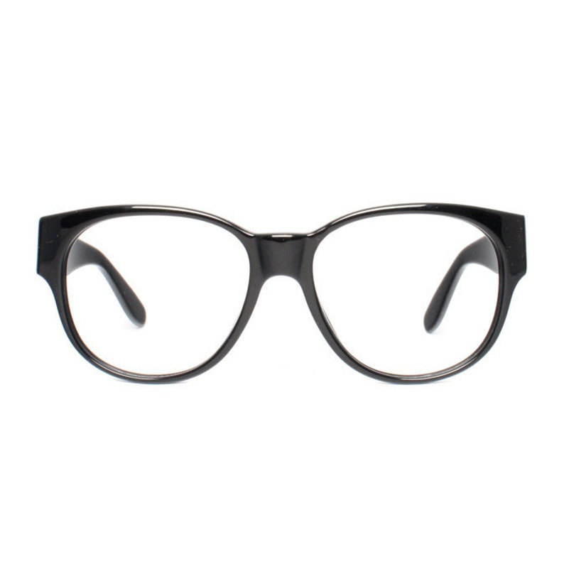 36c990079f Large vintage eyeglasses oversized black glasses frames