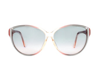 vintage butterfly sunglasses - large red / gray sun glasses for women & girls - true vintage from the 80s - BC galera