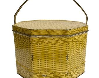 Vintage Biscuit Tin,  Loose Wiles Basketweave Tin,