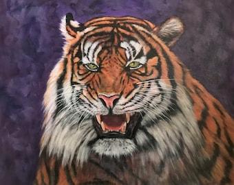 Tiger original  animal oil painting CUSTOM ORDER