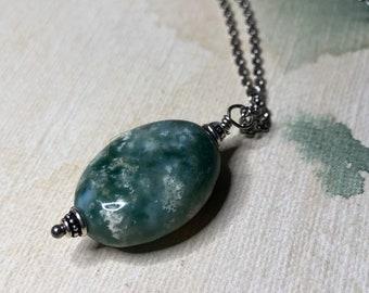 Reversible Natural Ocean Jasper Gemstone Necklace