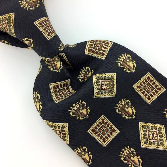 62ad391e6 Tommy Hilfiger Usa Tie Navy Blue Shield Squares Silk Necktie