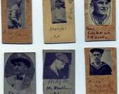 Folk Art Vintage Home Made Baseball Cards Early 20th Century