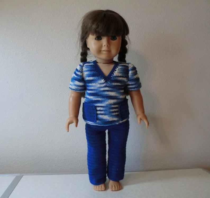 AG 265 Nurse Scrubs Set  Crochet Pattern for American girl dolls