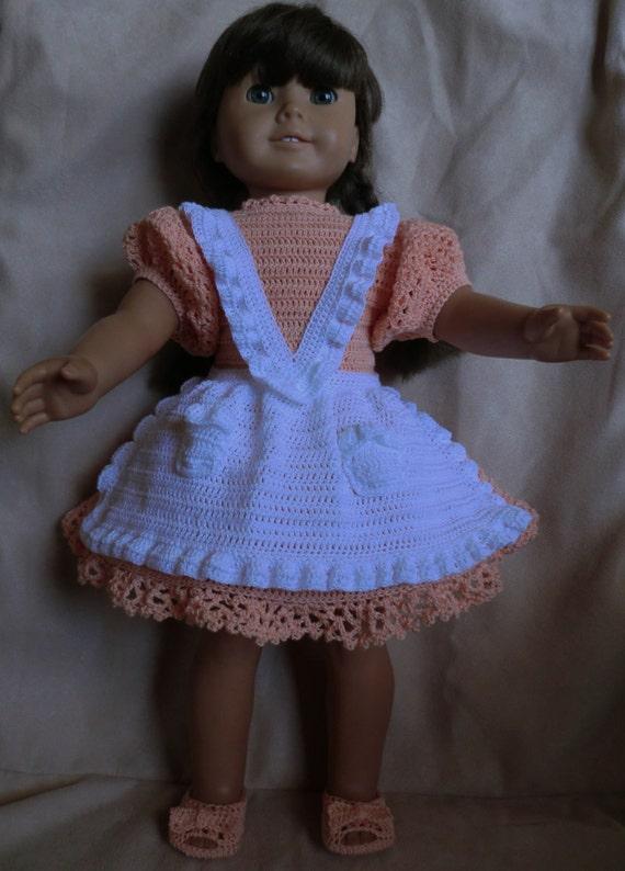 182 Addys Apron Crochet Pattern For American Girl Dolls Etsy