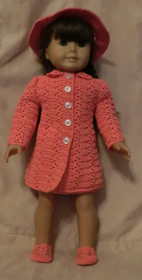 187 Princess Coat Set Crochet Pattern For American Girl Dolls