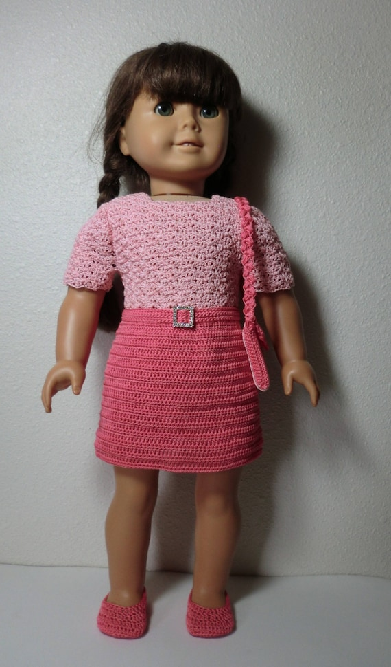 Ag 251 School Outfit Crochet Pattern For American Girl Dolls Etsy