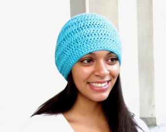 Crochet Beanie Hat, Adult, Women, Teen, Turquoise, Unisex, Ready To Ship,,