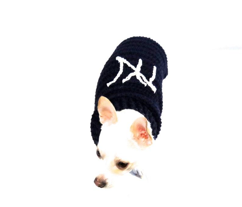 pretty nice 93117 9521b Yankee Dog Sweater, Crochet Dog Sweater, Navy Blue Dog Sweater