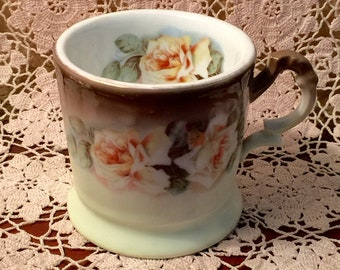 Vintage Bavaria Hand Painted Mug Floral Rose Design