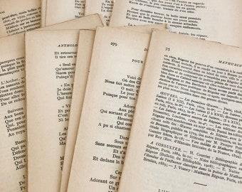 Assorted Vintage Paper Bundle Collage Kit 42 Old Book Pages Lot