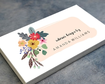 Business cards etsy personalized business cards reheart Image collections