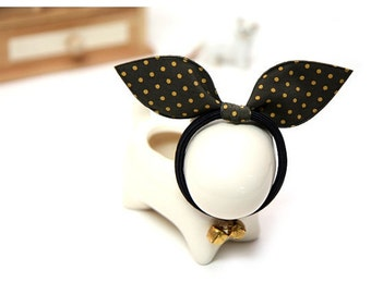 Sweety Polka Dot Rabbit Ear Motif - Pick Your Colors - 7 Different Colors