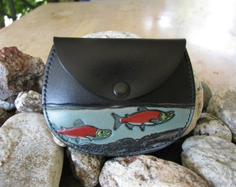 Leather Coin Purse / Salmon