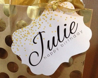 Gift Bag Tags Tag Bridal Shower Baby Labels Personalized Wedding Birthday