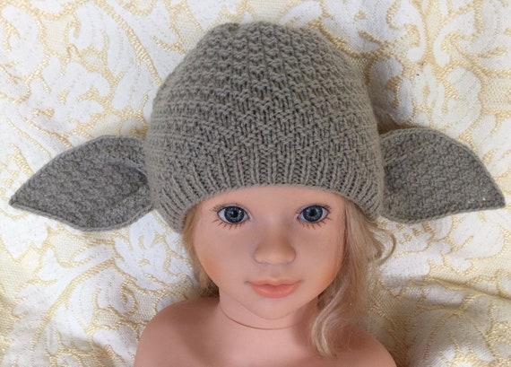 Pdf Pattern Only Knitting Dobbyyoda Hat Pattern Child Etsy
