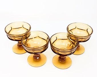 Vintage Amber Indiana Glass Sherbet