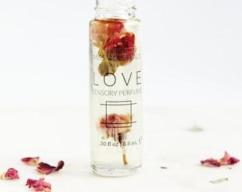 LOVE perfume   Sensory Perfume with Rose   100% natural and vegan