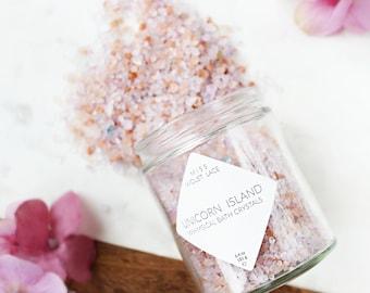 Unicorn Bath Salts, natural vegan bath salts, Dead Sea Pink Himalayan Salt bath soak, spa & relaxation