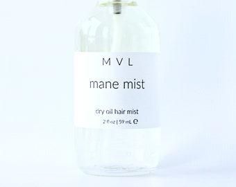 MANE MIST Dry Oil Hair Spray, jasmine hair conditioner, vegan hair moisturizer, 100% natural conditioner for dry and damaged hair