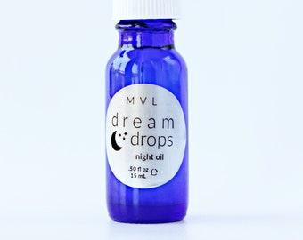 DREAM DROPS, night oil, scented body oil, relaxing oil, , dreamscape scent, 100% natural + vegan