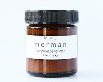 MERMAN Hair Pomade, surfer hair styling cream for men,| 100% natural + vegan