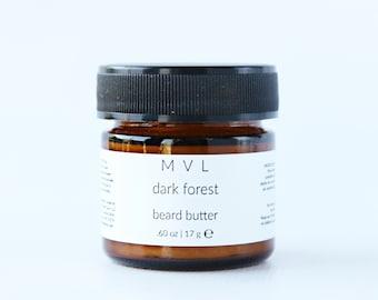 DARK FOREST Beard Butter, conditioning cream for facial hair, 100% natural + vegan