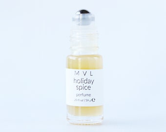 HOLIDAY SPICE perfume, cinnamon, chai, hazelnut and spices, 100% natural and vegan