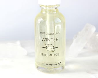 50% OFF Winter Perfume Oil | Snow Covered Woods, Winter Forest | Natural and vegan body oil