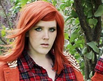 Wig Straight Copper Ginger Orange wig | Long Autumn Fall Harvest Hair | October