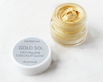 Gold Sol Shimmer SAMPLE | Coconut Body Shimmer | Natural and vegan