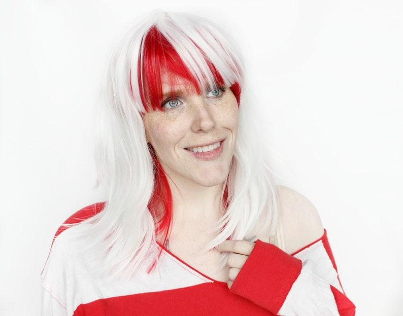 Red wig White wig Straight wig Scene wig Scene Emo wig  592b9dc7bf7e