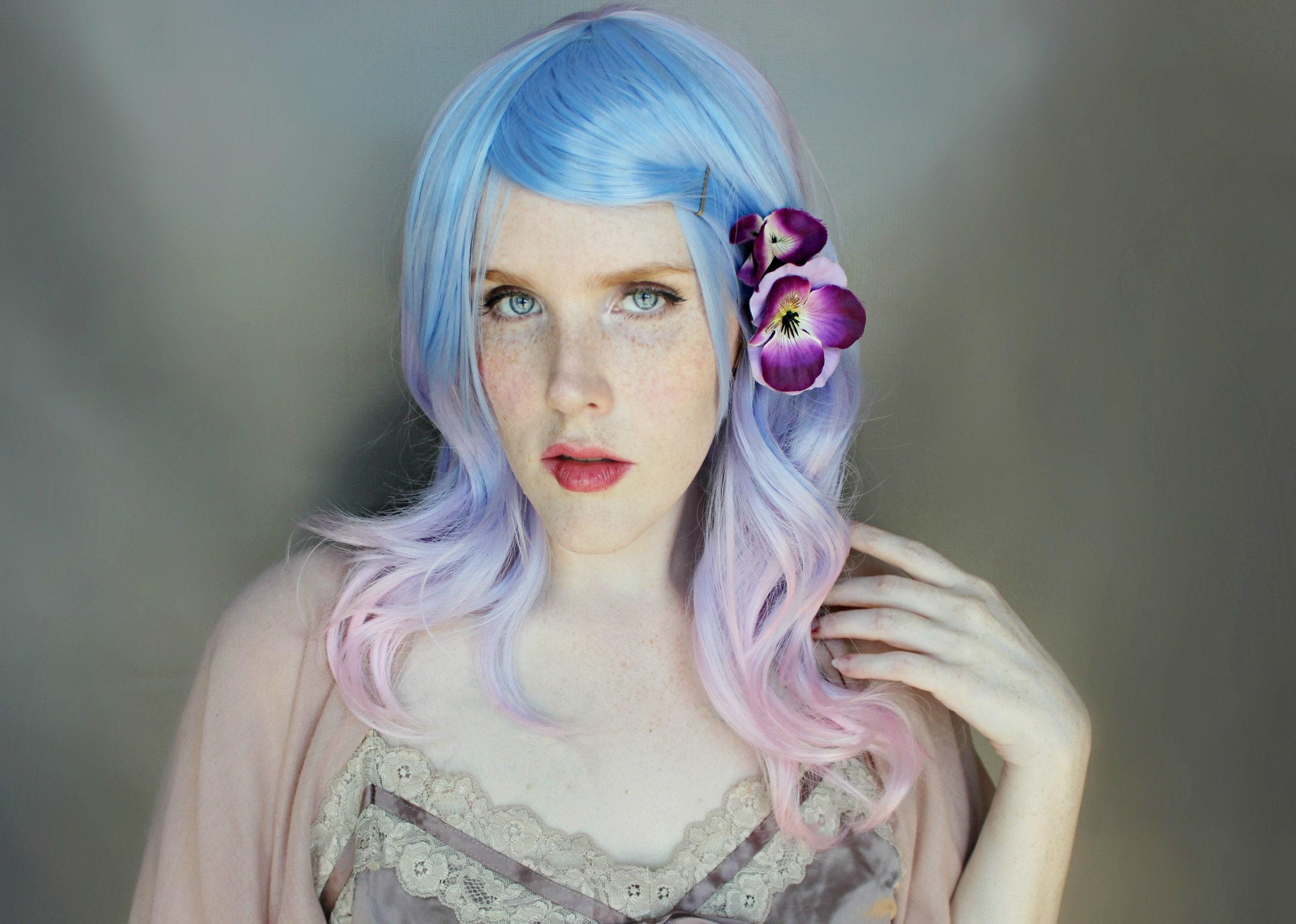Pastel Wig Purple Wig Ombre Wig Scene Wig Cosplay Wig Etsy