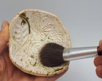 Makeup Brush Cleaner Dish | Handmade Soap Dish | Jewelry Dish |Watercolor Paint Brush Cleaner