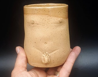 Male Nude Ceramic Fine Art Cup | Naked Man Cup| Handmade Pottery Body Mug for Him | Penis Cup
