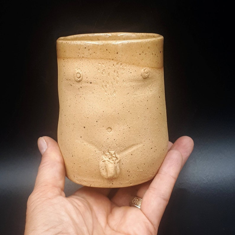 Male Nude Ceramic Fine Art Cup  Naked Man Cup Handmade image 0