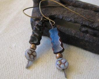 neutral dangle earrings