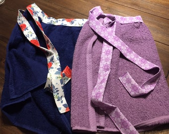 Apron, Terry cloth apron, Barbecue apron, cook's apron, Towel apron, kitchen apron, birthday present, bridal shower gift