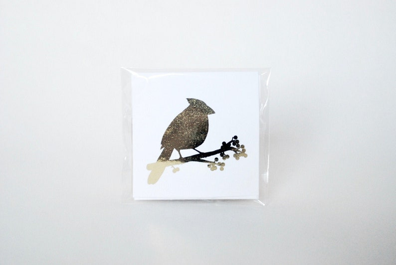 Gift tag: holiday winter animal gift tags sticky  bird and image 0