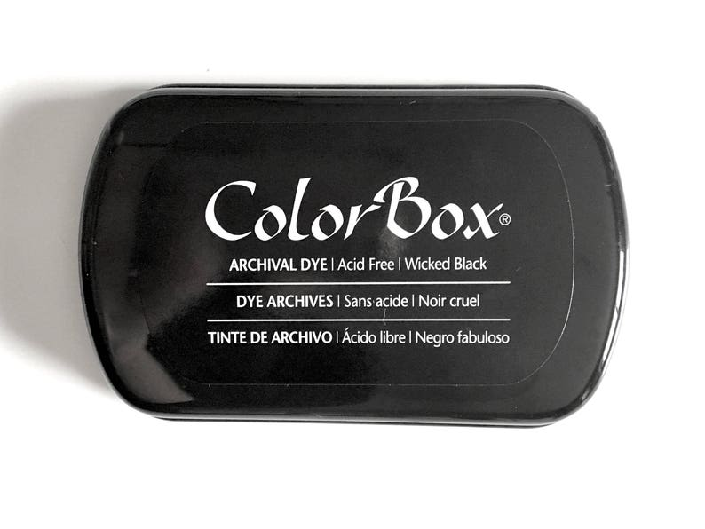 Black Ink Pad: Color Box Archival Dye ink image 0