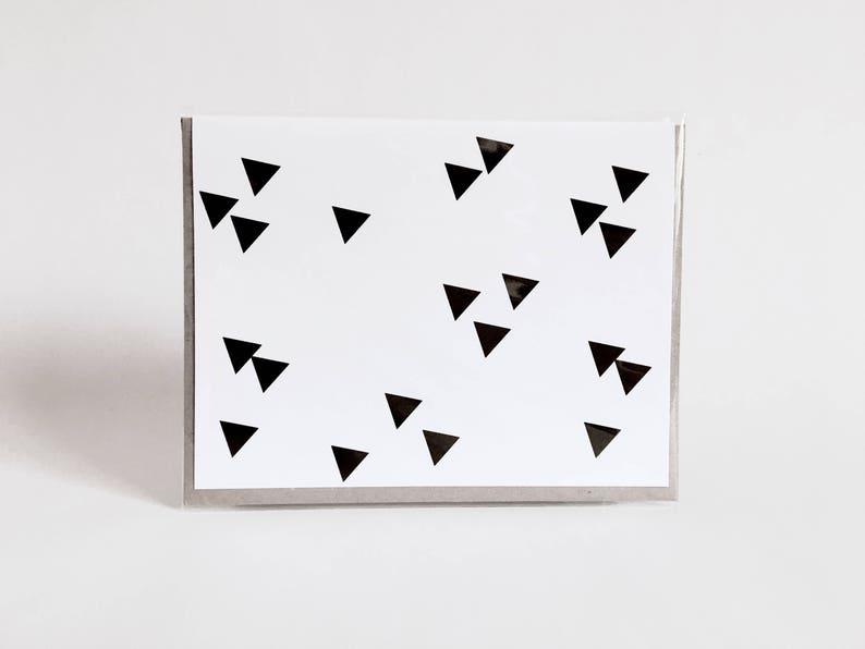 greeting card: geometric black and white card triangles image 0