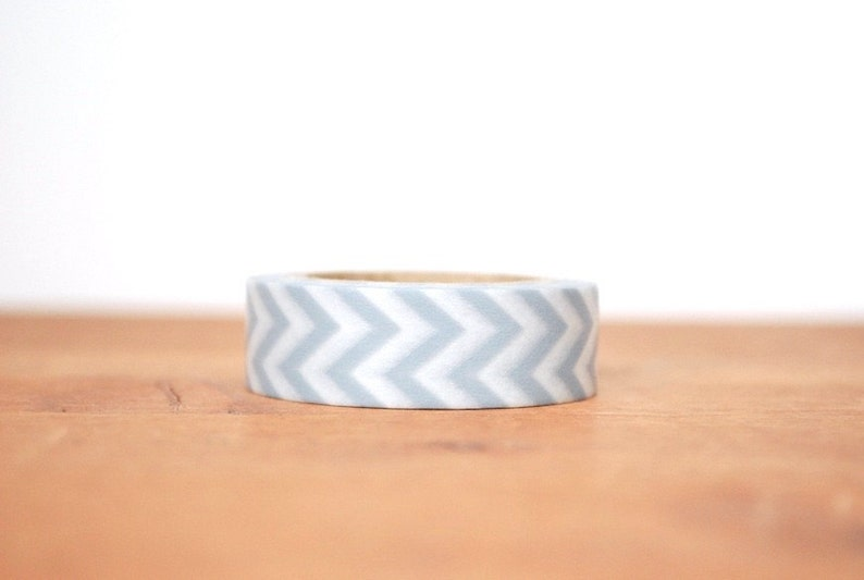 SALE 60% OFF WAS 5.00 washi tape: grey and white chevrons image 0