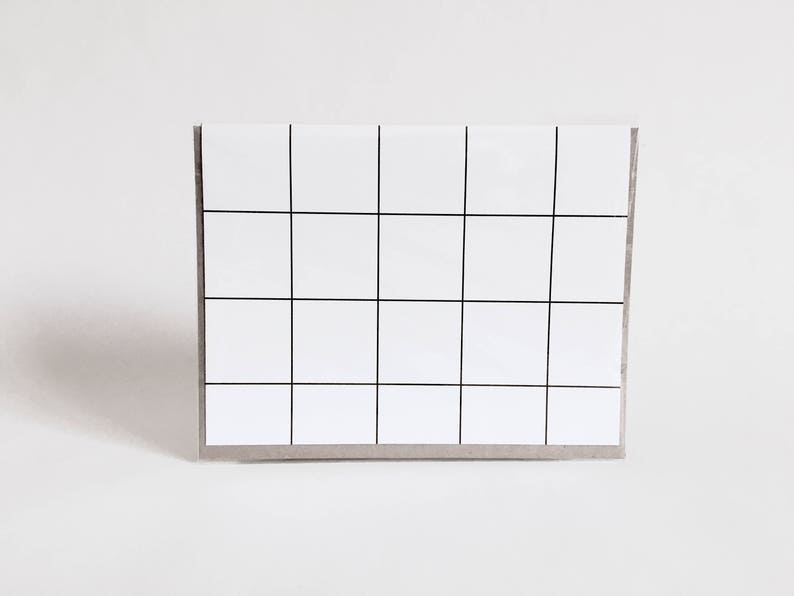 greeting card: geometric black and white card lines grids image 0
