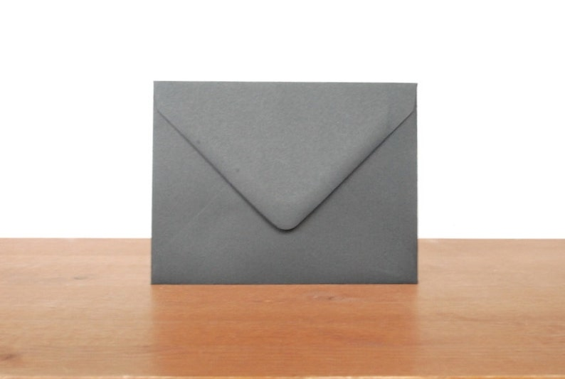 SALE 60% OFF WAS 5.00 black A2 envelopes: set of 10 blank image 0