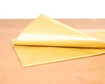 bright gold tissue paper: gold gift wrap, tissue, stuffing